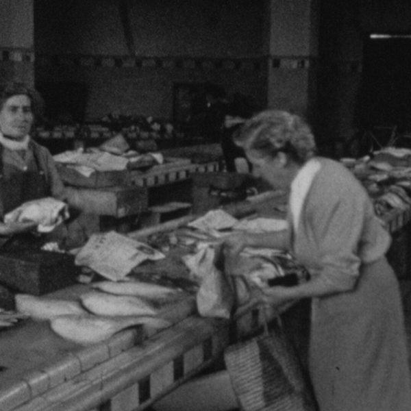 0513FH0003_1954_Le Touquet_Marche aux poissons